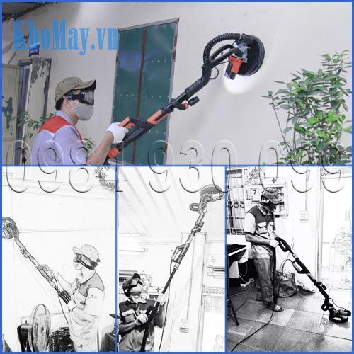 ddanHoatj động của máy chà nhám tường