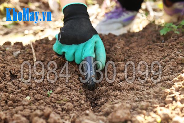 Găng tay làm vườn có móng 3A dùng để xẻ đất gieo hạt