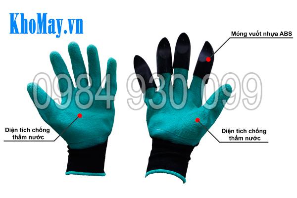 Cấu tạo của găng tay làm vườn có móng 3A
