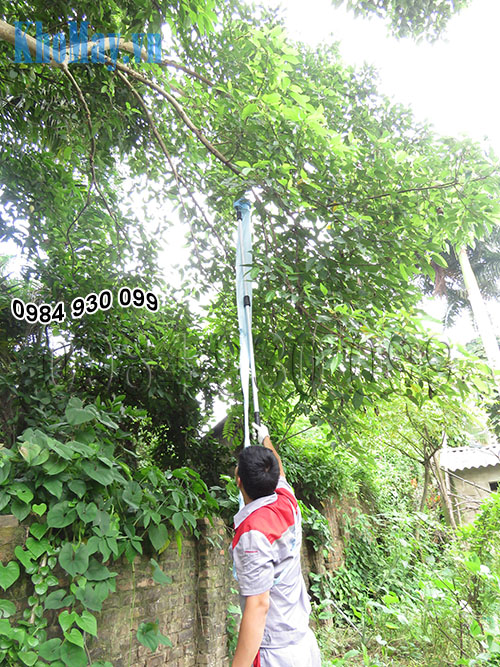 Dụng cụ hái trái cây trên cao chạy điện 3A dễ dàng thu hái quả trên cao