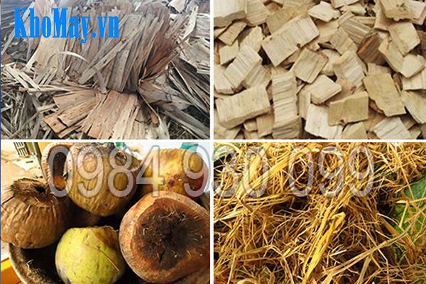 Nguyên lệu đầu vào của máy băm vỏ dừa, gỗ tạp, ván bóc 3A22Kw