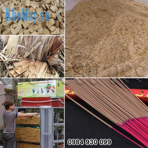 máy nghiền bột gỗ làm hương