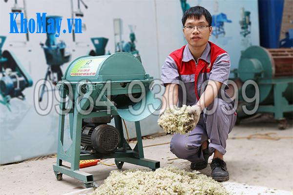 Sản phẩm đầu ra của máy thái chuối đa năng 3A1,5Kw có dạng hạt