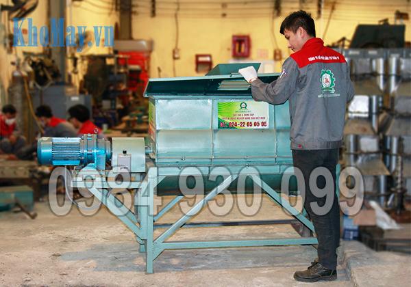 Sản phẩm Máy trộn nguyên liệu 3A3Kw (trục ngang)