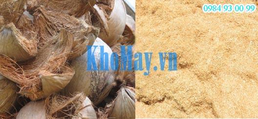 xơ dừa được xay từ máy xay xơ dừa 3A7,5KW