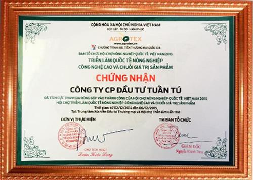 Công ty CPĐT Tuấn Tú với Hội chợ nông nghiệp quốc tế.
