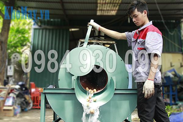 Cửa xả nguyên liệu của Máy rửa nông sản 3A XD500