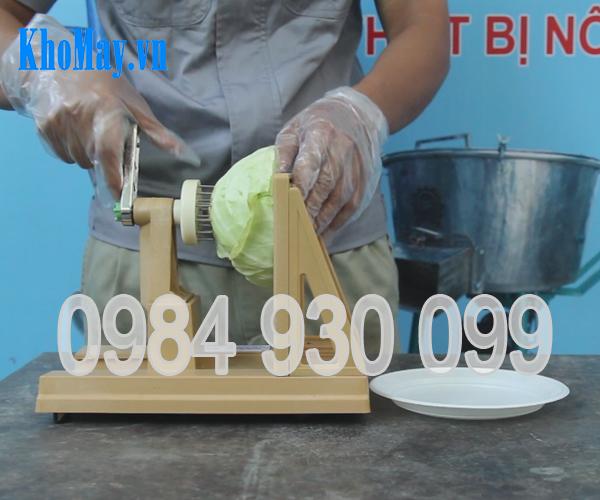 máy thái sợi bắp cải, máy cắt bắp cải, máy bào bắp cài quay tay, dụng cụ thái bắp cải