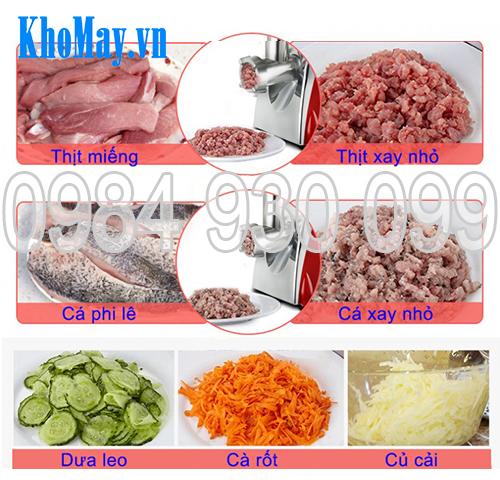 máy xay thịt, máy xay cá, máy nạo rau củ quả