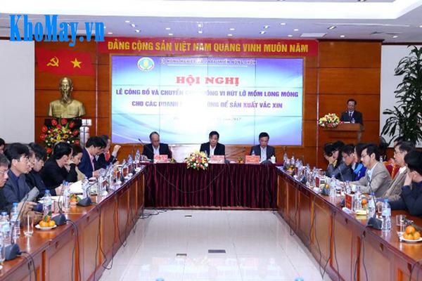 Việt nam chủ động sản xuất vắc xin lở mồm long móng: Toàn cảnh lễ công bố