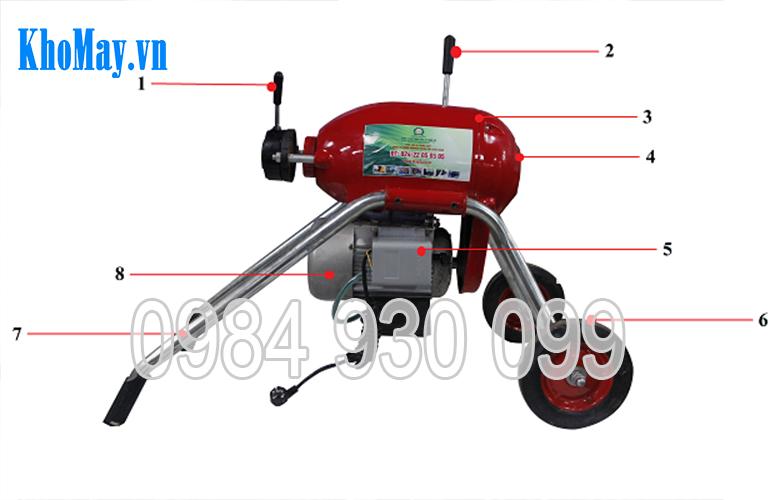 máy thông cống ngầm, máy thông tắc cống, máy thông cống GQ200, máy thông tắc đường ống, máy thông cống 3a,