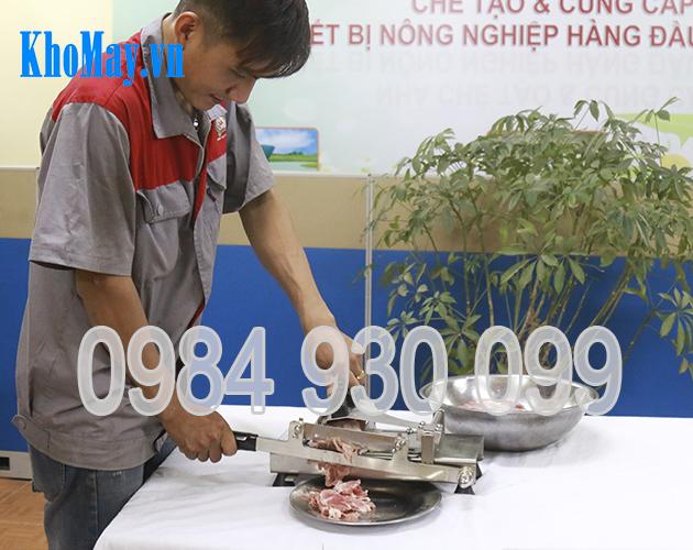 Dụng cụ cắt thịt đông lạnh, dụng cụ thái thịt đông lạnh, máy cắt thịt đông lạnh, máy thái thịt đông lạnh,