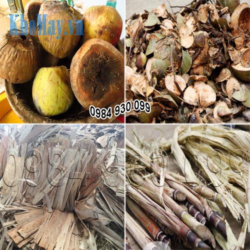 Nguyên liệu máy băm vỏ dừa, phụ phẩm nông nghiệp