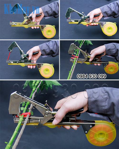 Thao tác sử dụng Dụng cụ buộc cành cây 3A